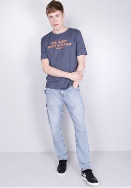 Camiseta-Estampada-Manga-Curta-Eat-Sleep-Marinho-PP