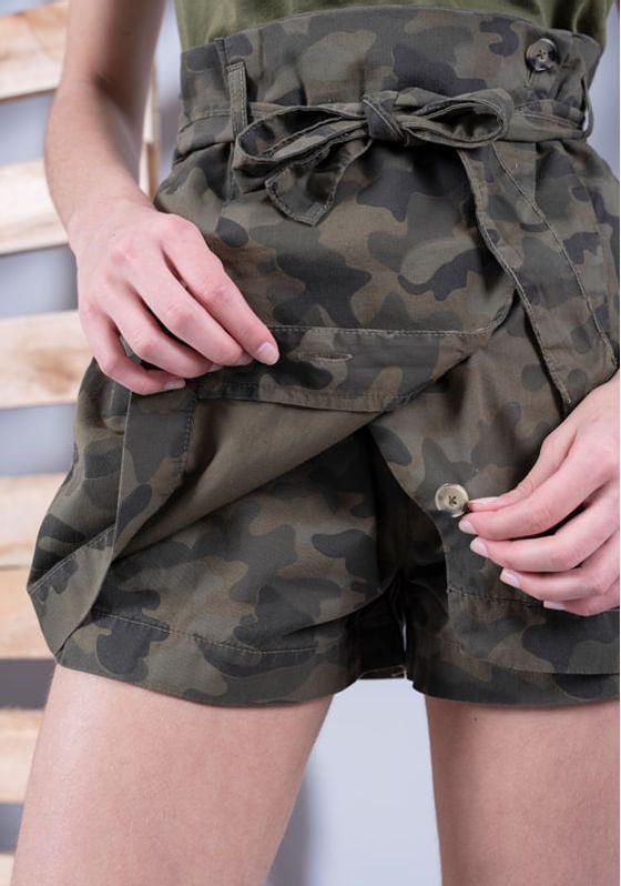 Short-Saia-Clochard-Camuflado-Militar-P
