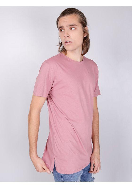 Camiseta-Basica-Manga-Curta-Alongada-Cassis-Rosa-PP