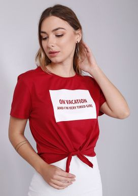 Blusa-Estampada-Manga-Curta-Amarracao-On-Vacation-Vermelha-Gang-Feminina-Vermelho-PP