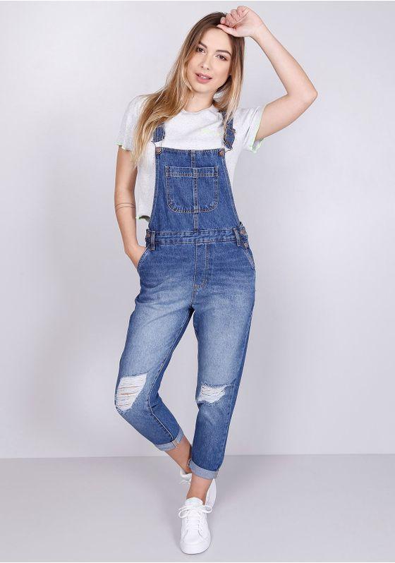 Macacao-Jeans-Rasgos-Azul-Medio-Gang-Feminino-Azul-P