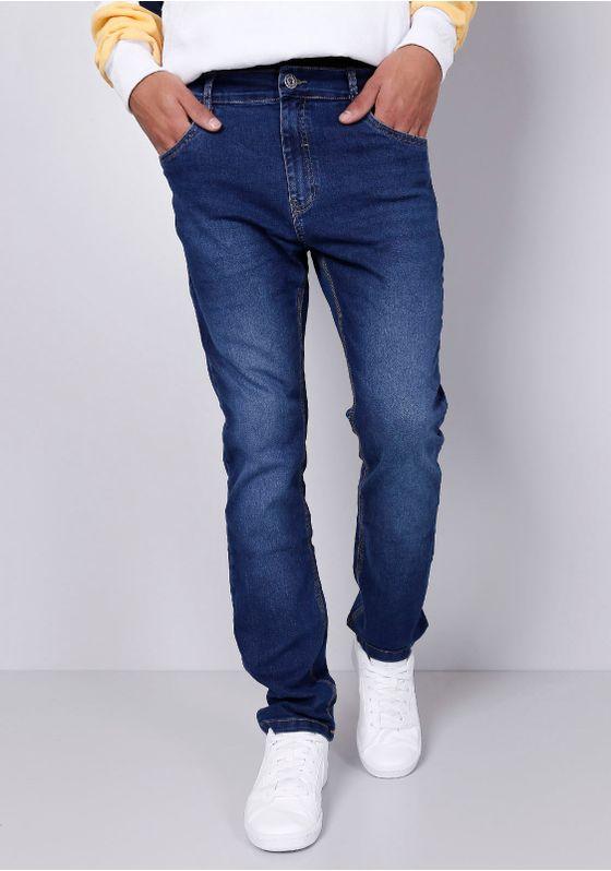 Calca-Jeans-Slim-Azul-Medio-Gang-Masculina-Azul-36