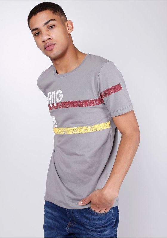 Camiseta-Estampada-Manga-Curta-Faixa-Cinza-Gang-Masculina-Cinza-P