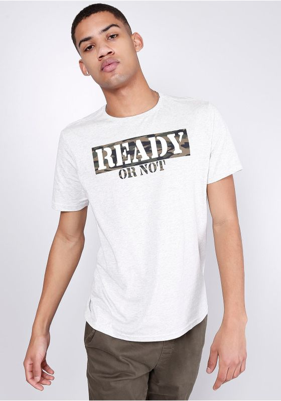 Camiseta-Estampada-Manga-Curta-Ready-Mescla-Banana-Gang-Masculina-Bege-PP