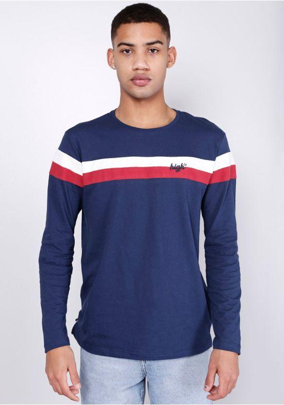 Camiseta-Estampada-Manga-Longa-Listras-Azul-Marinho-Gang-Masculino-Marinho-M