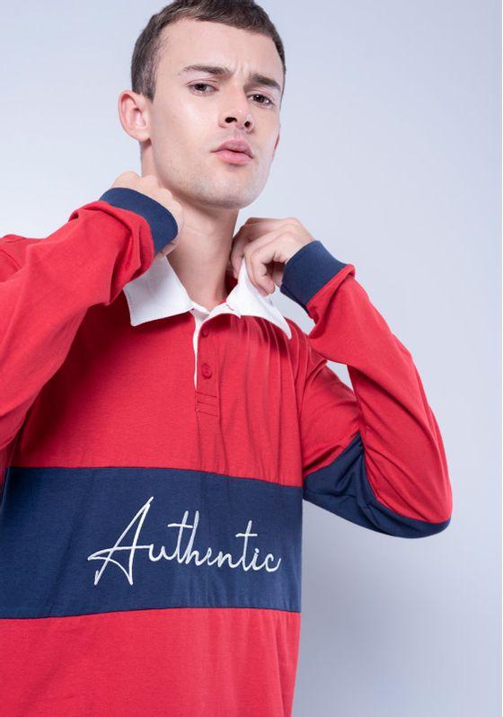 Camisa-Polo-Estampada-Manga-Longa-Vermelha-Gang-Masculina-Vermelho-PP