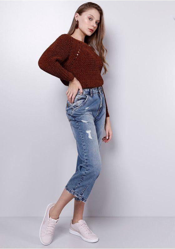 Calca-Jeans-Cropped-Puidos-Azul-Medio-Gang-Feminina-Azul-36