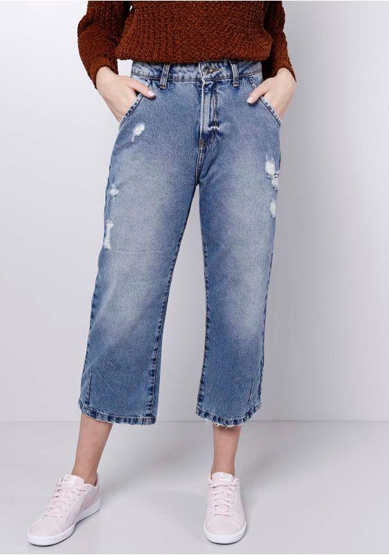 Calca-Jeans-Cropped-Puidos-Azul-Medio-Gang-Feminina-Azul-38