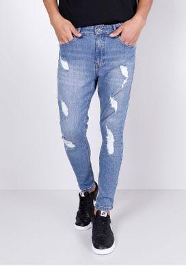 Calca-Jeans-Skinny-Cropped-Rasgos-Azul-Medio-Gang-Masculina-Azul-34