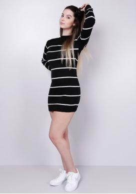 Vestido-Tricot-Listrado-P-B-Gang-Feminino-Preto-PP