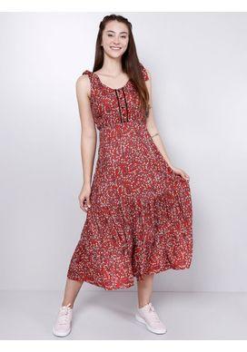 Vestido-Midi-Floral-Telha-Gang-Feminino-Vermelho-P