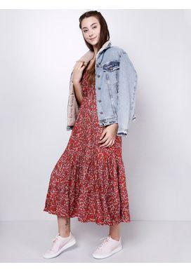 Vestido-Midi-Floral-Telha-Gang-Feminino-Vermelho-G