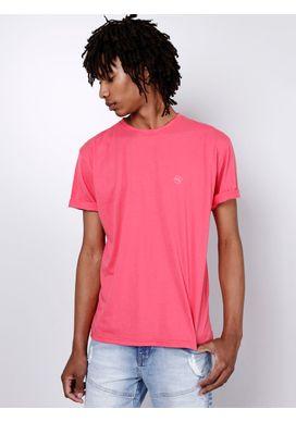 Camiseta-Basica-Coral-Gang-Masculina-Rosa-M-