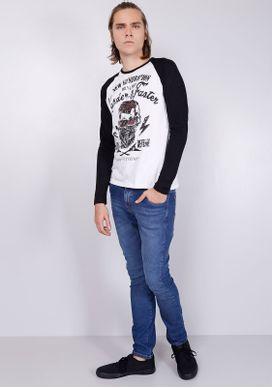 Camiseta-Manga-Longa-Skull-Branca-e-Preta-Preto-P