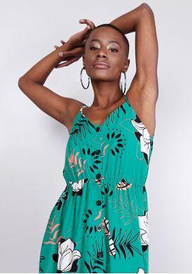 Vestido-Midi-Verde-Floral-Gang-Feminino-Verde-PP