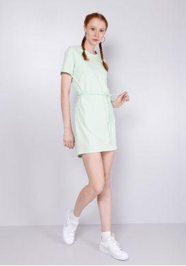Vestido-Basico-T-shirt-Menta-Gang-Feminino-Verde-PP