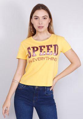 Blusa-T-shirt-Amarela-Speed