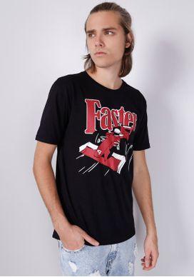Camiseta-Preta-Faster-Formula-1