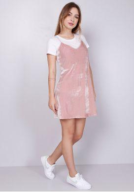 Vestido-Curto-Veludo-Rosa