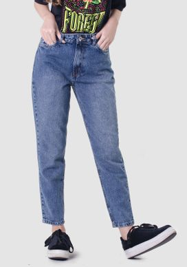 Calca-Mom-Jeans-Retro-Cintura-Alta-Azul-Medio
