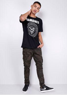 Camiseta-Manga-Curta-Ramones-Preta