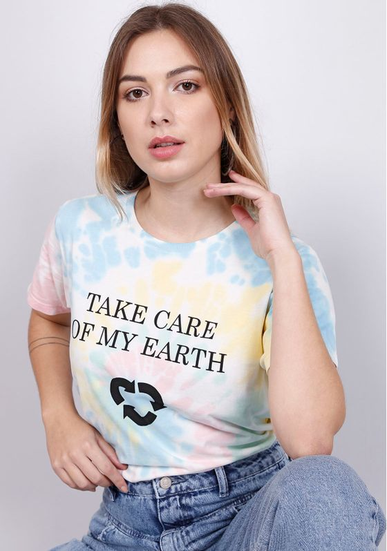 Blusa-Estampada-Manga-Curta-Tie-Dye-Take-Care-Earth