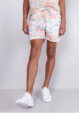 Short-De-Banho-Estampado-Flamingos-Branco-Gang-Masculino
