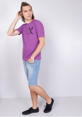 Camiseta-Estampada-Manga-Curta-Roxa-Silk-Skates-Gang-Masculina