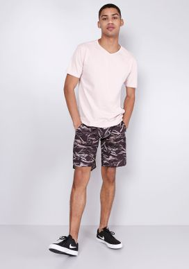 Bermuda-De-Banho-Estampada-Preta-Camuflada-Riscos-Gang-Masculina