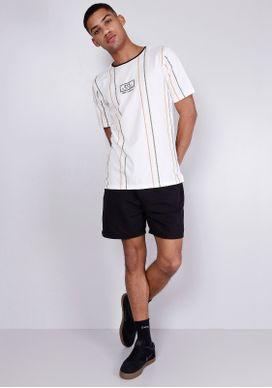 Camiseta-Estampada-Manga-Curta-Listras-Branca-Gang-Masculina