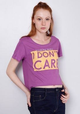 Blusa-Cropped-Estampada-Manga-Curta-I-Don-t-Care-Roxa-Gang-Feminina