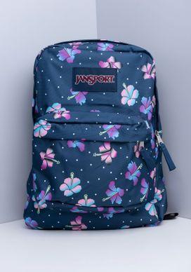Mochila-Floral-Azul-Jansport-Feminina