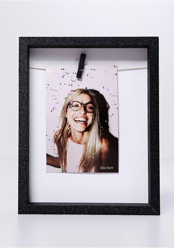 Porta-Retrato-Clip-Glitter-Uatt-Preto