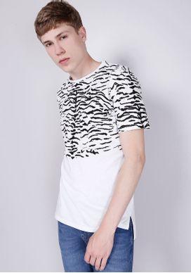 Camiseta-Estampada-Manga-Curta-Zebra-Branca