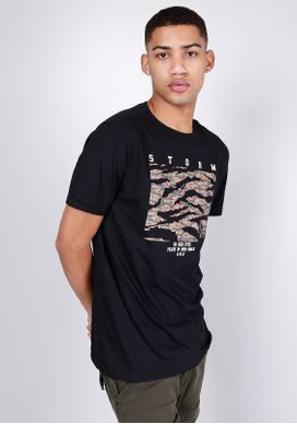 Camiseta-Manga-Curta-Storm-Preta-Gang-Masculina