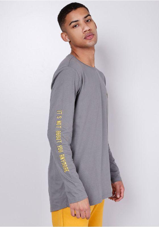 Camiseta-Manga-Longa-Cinza-Gang-Masculina