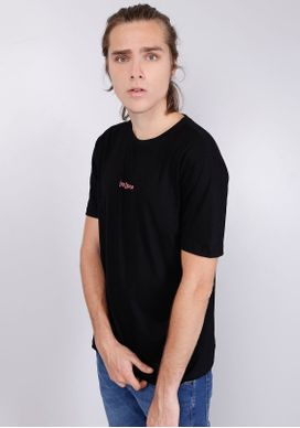 Camiseta-Manga-Curta-Repense-Preta-Gang