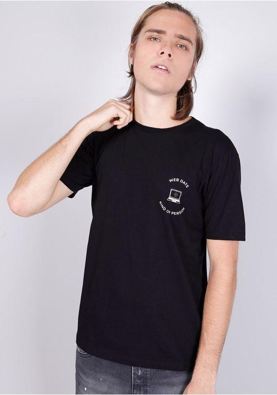 Camiseta-Manga-Curta-Web-Date-Kind-of-Person-Preta-Gang