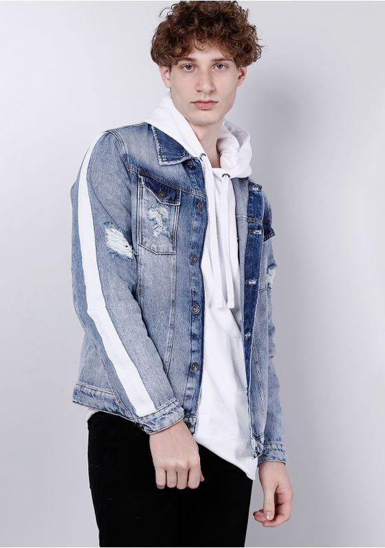 Jaqueta-Jeans-clara-com-Listra-nas-Mangas-Gang-Masculina