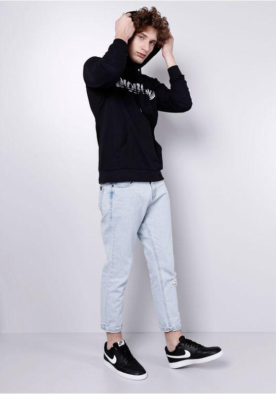 Camiseta-Manga-Longa-Preta-com-Capuz-Gang-Masculina