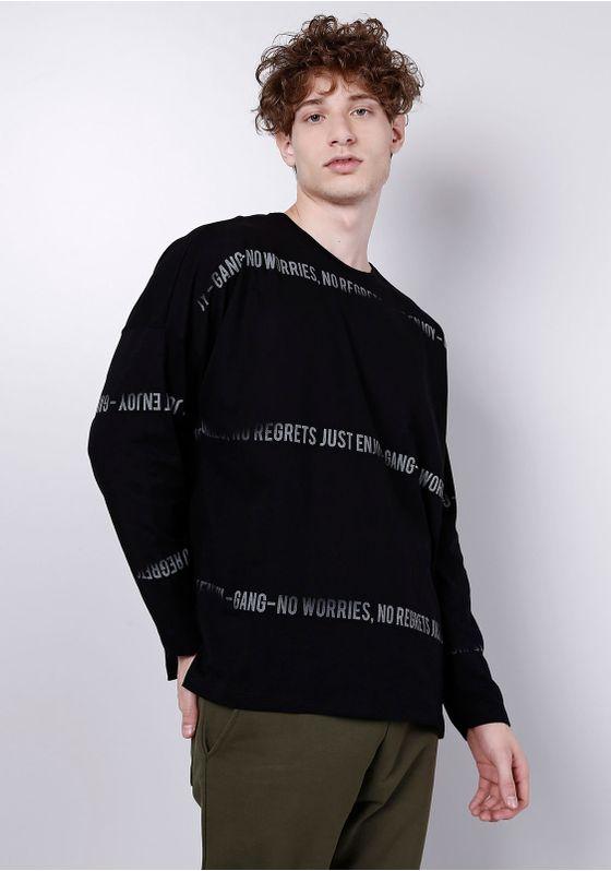 Camiseta-Manga-Longa-Over-Fit-Preta-Gang-Masculina