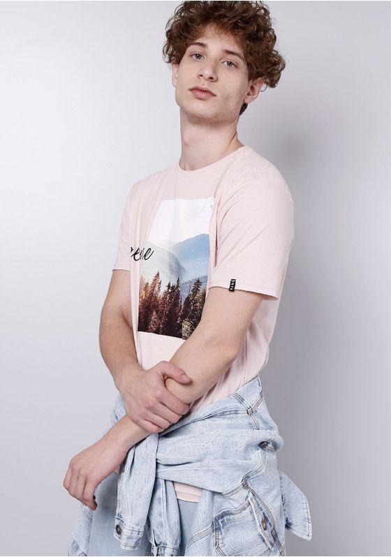 Camiseta-Manga-Curta-Estampada-Rosa-Gang-Masculina