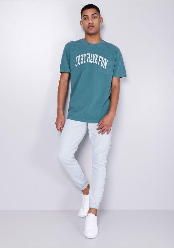 Camiseta-Manga-Curta-Petroleo-Com-Bolso-Gang-Masculina