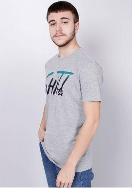 Camiseta-Estampada-Manga-Curta-Shit-Cinza-Gang-Masculina