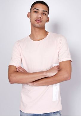 Camiseta-Manga-Curta-Silk-Lateral-Be-Simple-Rosa-Gang-Masculina