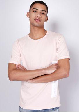 Camiseta-Manga-Curta-Silk-Lateral-Be-Simple-Rosa-Gang-Masculina