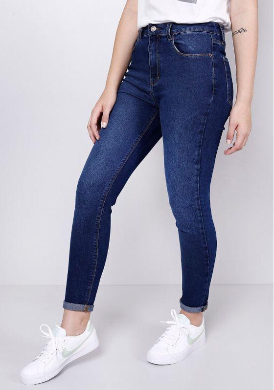 Calca-Jeans-Cintura-Media-Azul-Escura-Gang-Feminina