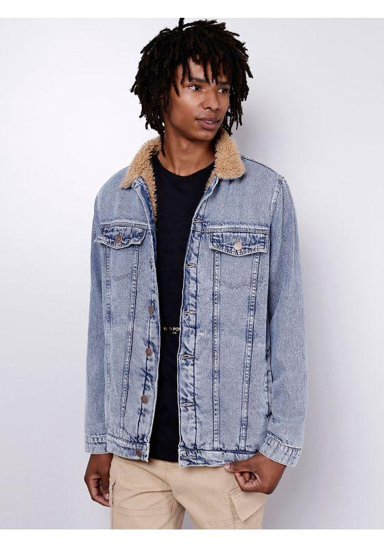 Jaqueta-Jeans-com-Peleguinho-Blue-Claro-Gang-Masculina