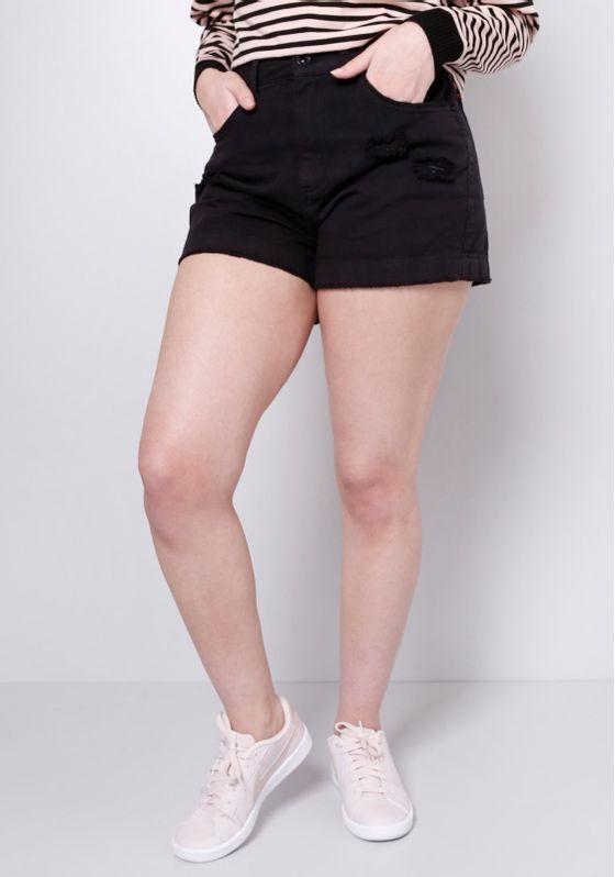 Short-Jeans-Preto-Gang-Feminino