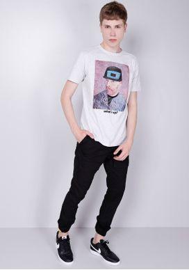 Camiseta-Manga-Curta-Cinza-Mescla-Van-Gogh-Gang-Masculina